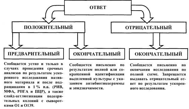 Схема выдачи результатов