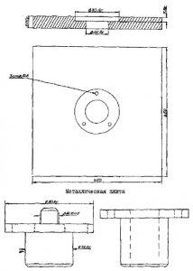 Схема промерзания и протаивания грунтов для определения глубины закладки центров и реперов.