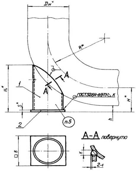 Опоры корпусные приварные  тип КП  Опоры трубопроводов