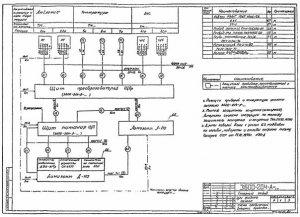 Пример выполнения схемы соединений внешних проводок с применением кабелей контрольных.
