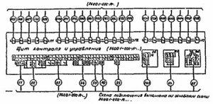 Пример выполнения схемы подключения внешних проводок.