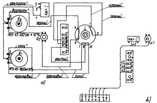 Схема соединений для приборов