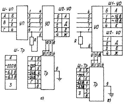 Схема соединений блоков в