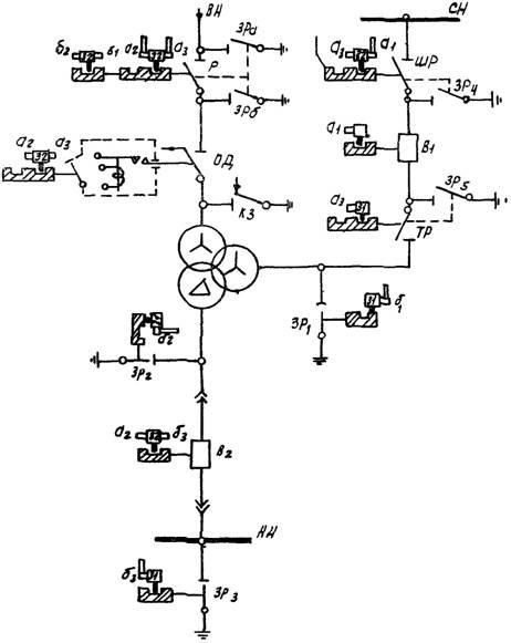 Схема однотрансформаторной