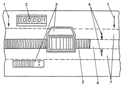 Схема установки маркировочных