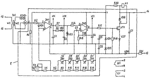 Принципиальная схема реле тока