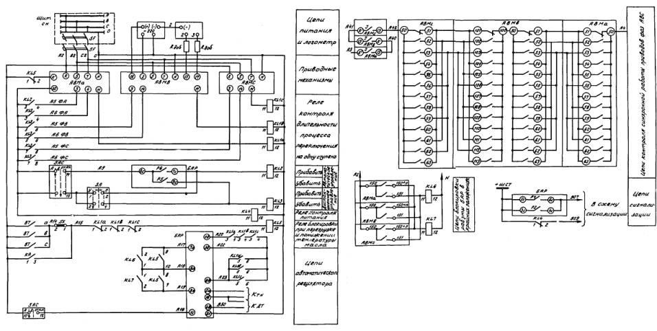 Схема управления приводными
