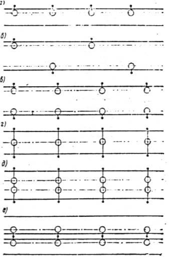 Схемы размещения светильников