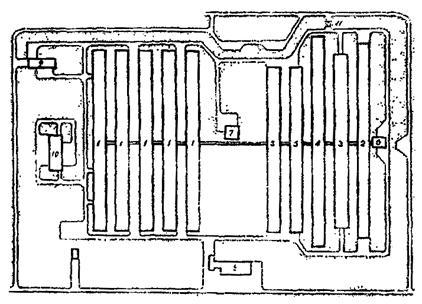 1 - здания свинарников