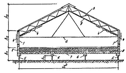 Конструктивная схема теплицы