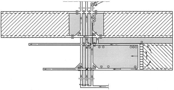 Рис. 9.1.Схема проветривания выемочного столба с отводом метановоздушной смеси по выработанному пространству и...