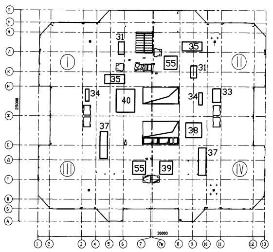 Схема расстановки контейнеров